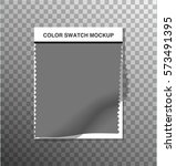 textile color swatch on... | Shutterstock .eps vector #573491395