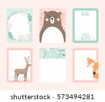 vector scrapbooking journaling... | Shutterstock .eps vector #573494281