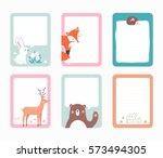 vector scrapbooking journaling... | Shutterstock .eps vector #573494305