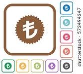 turkish lira sticker simple... | Shutterstock .eps vector #573494347