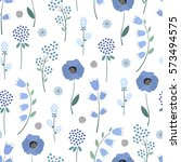 seamless floral pattern. cute... | Shutterstock .eps vector #573494575