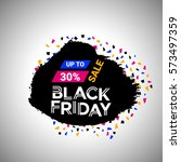 black friday banner over black... | Shutterstock .eps vector #573497359