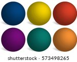 set of bright colored balls.... | Shutterstock .eps vector #573498265