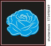 roses  flowers  icon  vector... | Shutterstock .eps vector #573498469