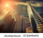 new modern business buildings...   Shutterstock . vector #573499495
