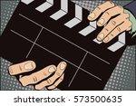stock illustration. style of... | Shutterstock .eps vector #573500635