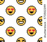 emoji cute seamless pattern on... | Shutterstock .eps vector #573502399