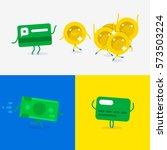 money coins transfer. credit...   Shutterstock .eps vector #573503224