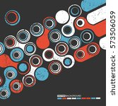 abstract colorful shapes on... | Shutterstock .eps vector #573506059