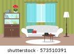 vector image  interior  flat... | Shutterstock .eps vector #573510391