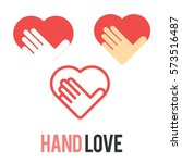 love hand logo icon symbol set   Shutterstock .eps vector #573516487