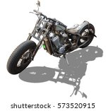 vintage motorcycles isolated. | Shutterstock . vector #573520915