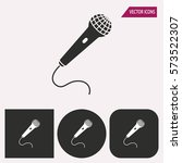 microphone   black and white... | Shutterstock .eps vector #573522307