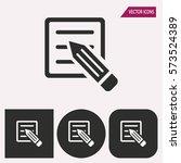 registration   black and white... | Shutterstock .eps vector #573524389