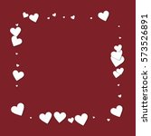 beautiful white paper hearts.... | Shutterstock .eps vector #573526891