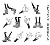 cartoon hands and legs vector.... | Shutterstock .eps vector #573526951