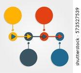 infographic design template... | Shutterstock . vector #573527539