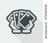 poker game icon | Shutterstock .eps vector #573530335