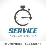 logo   stopwatch concept   all... | Shutterstock .eps vector #573530644