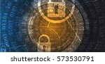 technology security concept.... | Shutterstock .eps vector #573530791