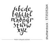 calligraphic font. handwritten...   Shutterstock .eps vector #573535264