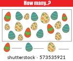 counting educational children... | Shutterstock .eps vector #573535921