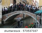 venice  italy   may 18  2012 ... | Shutterstock . vector #573537337
