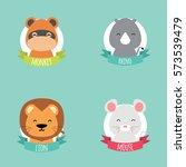 cute cartoon animals   Shutterstock .eps vector #573539479