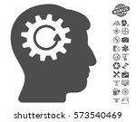 head gear rotation icon with... | Shutterstock .eps vector #573540469