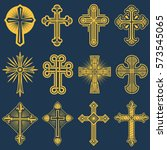 gothic catholic cross vector...