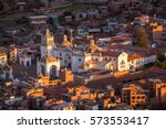 arial view on basilica of our... | Shutterstock . vector #573553417