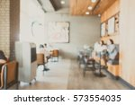 abstract blur coffee shop cafe... | Shutterstock . vector #573554035