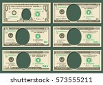 dollar currency notes vector... | Shutterstock .eps vector #573555211