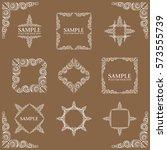 frames. decorative elements.... | Shutterstock .eps vector #573555739