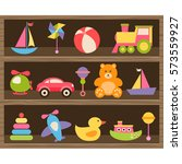 colorful baby toys | Shutterstock .eps vector #573559927