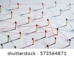 linking entities. network ... | Shutterstock . vector #573564871