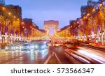 arch of triumph and champs...   Shutterstock . vector #573566347