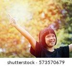 happy healthy little asia child ... | Shutterstock . vector #573570679