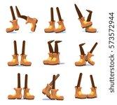 cartoon walking  running ... | Shutterstock .eps vector #573572944