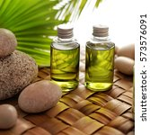 spa still life. aromatherapy... | Shutterstock . vector #573576091