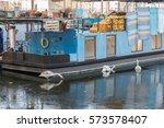 swan on ice lake | Shutterstock . vector #573578407