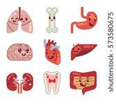 cute cartoon internal organs... | Shutterstock .eps vector #573580675