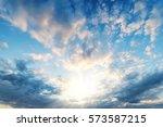 Sky Blue And Orange Light Of...