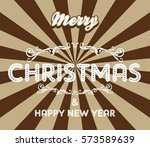 merry christmas theme | Shutterstock . vector #573589639
