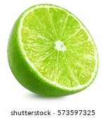 Half Of Lime Citrus Fruit. Lim...