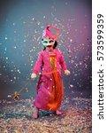funny carnival portrait | Shutterstock . vector #573599359