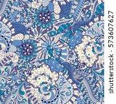 tracery seamless calming... | Shutterstock .eps vector #573607627