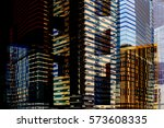 modern urban cityscape by day... | Shutterstock . vector #573608335