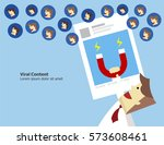 the powerful of content... | Shutterstock .eps vector #573608461