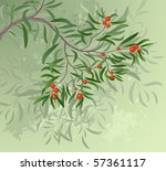 artistically painted green... | Shutterstock .eps vector #57361117